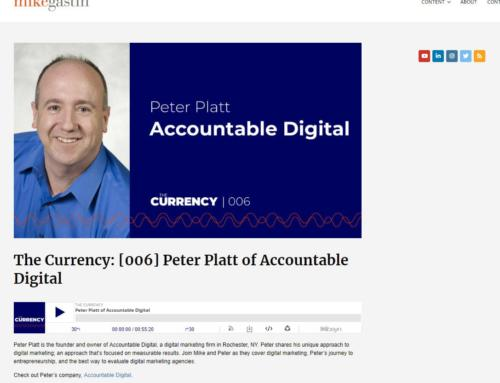 """Peter Platt featured on """"The Currency"""""""