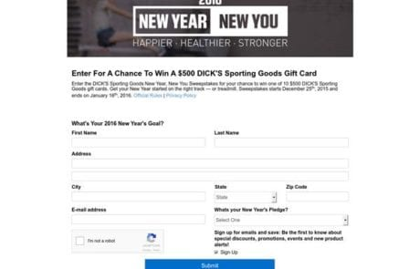 Enter to Win Homepage