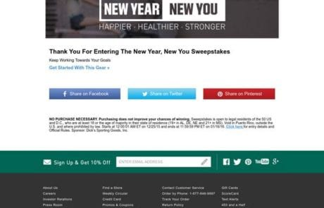 New Year New You Website Page
