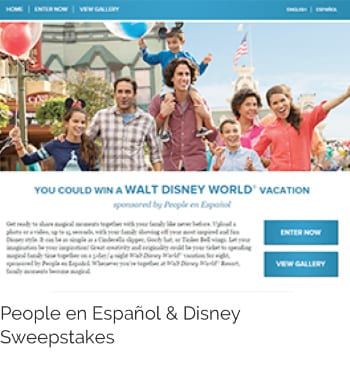 You could win a Walt Disney World Vacation