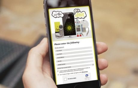 Mobile Phone LG Entry Form