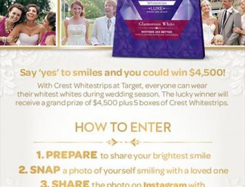 The Crest Whitestrips Smile Together Sweepstakes