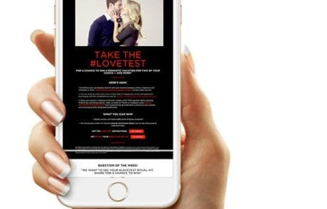 Take the lovetest on mobile