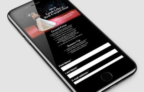 Mobile Entry Page