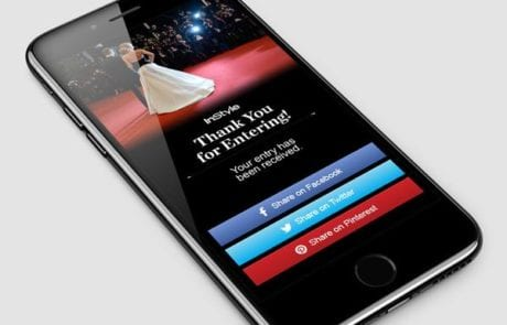 Mobile Entry social media sharing buttons
