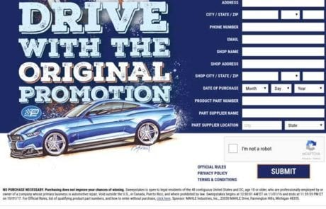 Drive with the original promotion