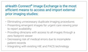 Image Exchange is the most efficient to access external imaging
