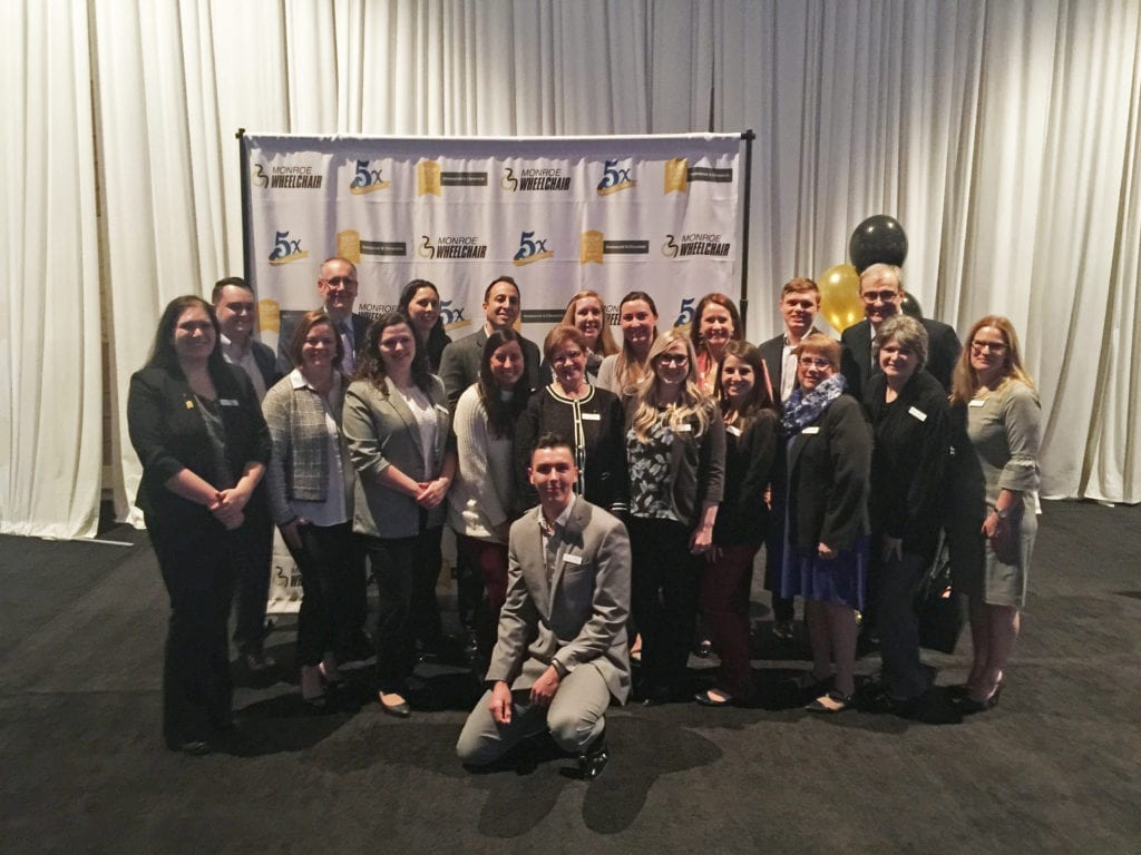 Insero's team of accountants at the 2019 Top Workplaces celebration in Rochester, NY