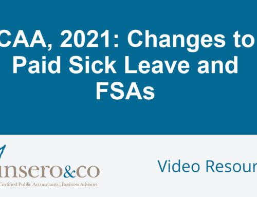 CAA 2021 Changes to Paid Sick Leave and FSAs