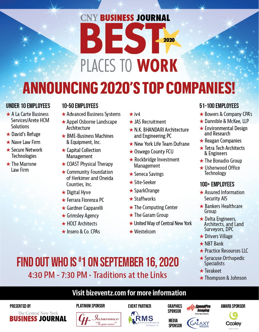 2020 Central New York's Best Places to Work