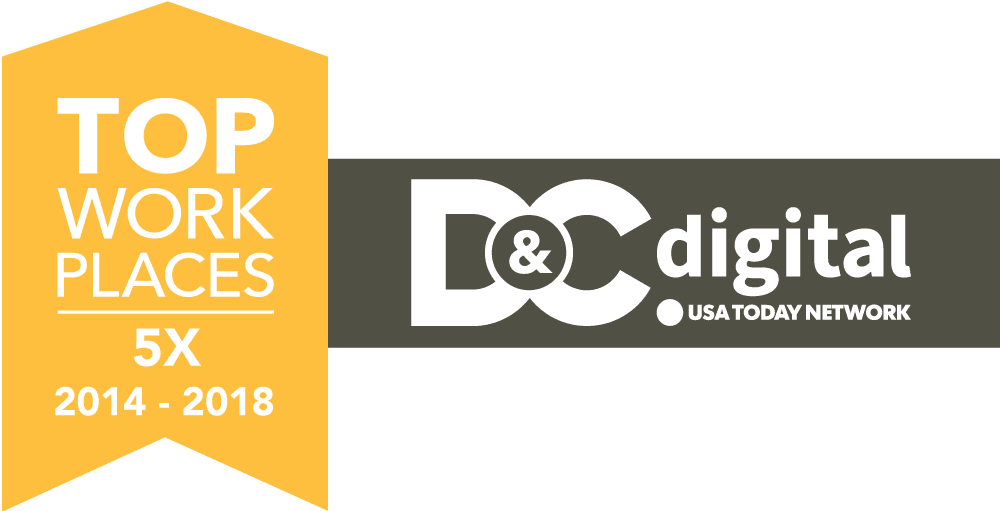 2018 Top Workplaces Logo, 5 Year Winners 2014 - 2018 by D&C Digital, part of the USA Today Network