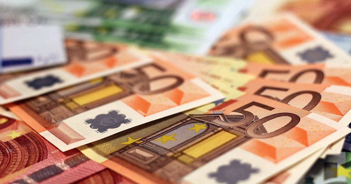 gift from abroad of non-u.s. currency euros bank notes
