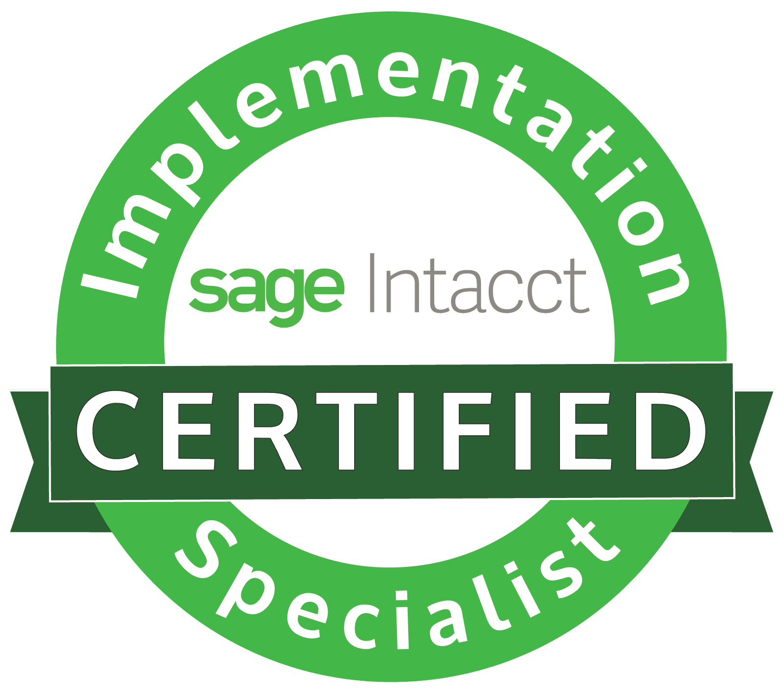 Sage Intacct Certified Implementation Specialist Logo