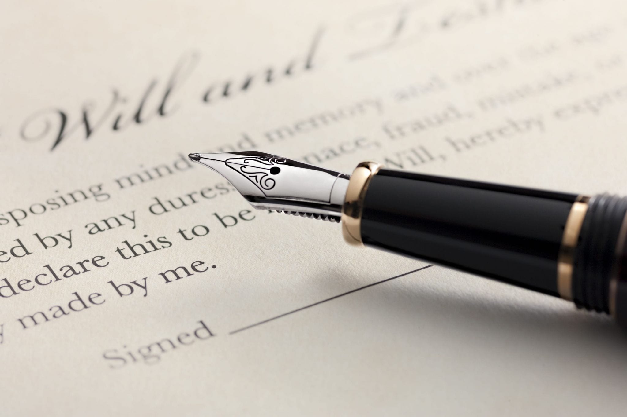 now is a great time to revisit your will, fountain pen with last will and testament